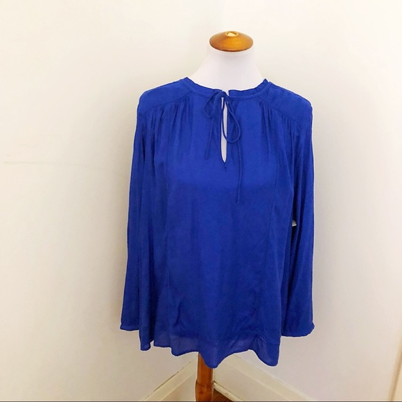 05bafe9ec8e42b Lucky Brand Tops - Lucky brand cobalt blue boho peasant blouse xl